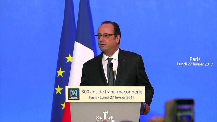 Discours de François HOLLANDE, Président de la République le 27 février 2017 au siège du Grand Orient de France