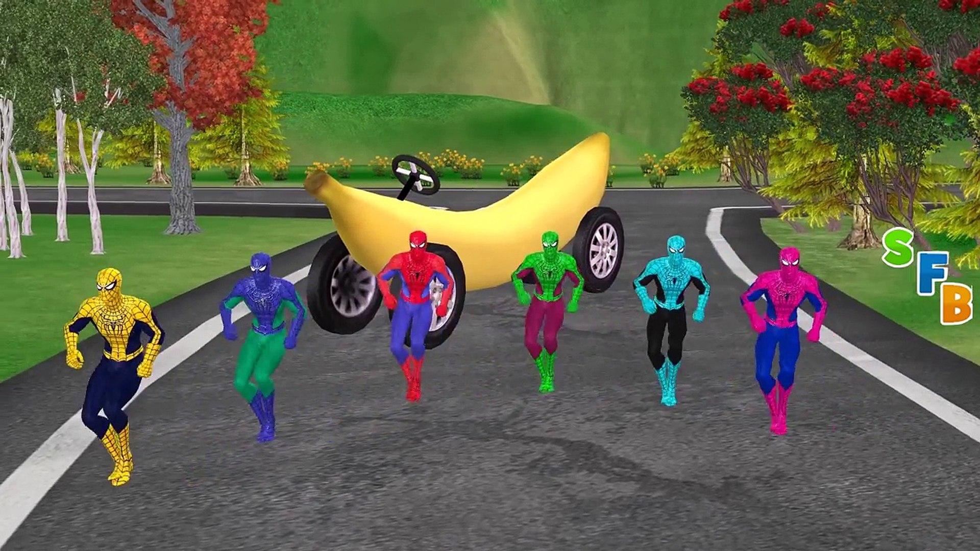 Банан мальчик автомобиль Папа водить машину эпизоды Семья палец миньоны Новые функции питомник сила