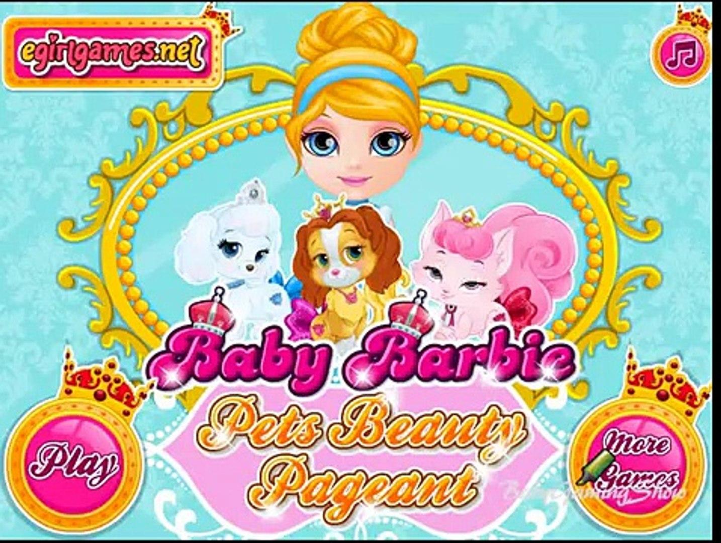 Baby Barbie Pets Beauty Pageant Princess Belle Palace Pet Teacup Puppy Care