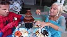Замороженные elsa и Человек-Паук, Джокер похитил Вт/ детские Супергерл Малефисента Человек-паук Fuunny суп