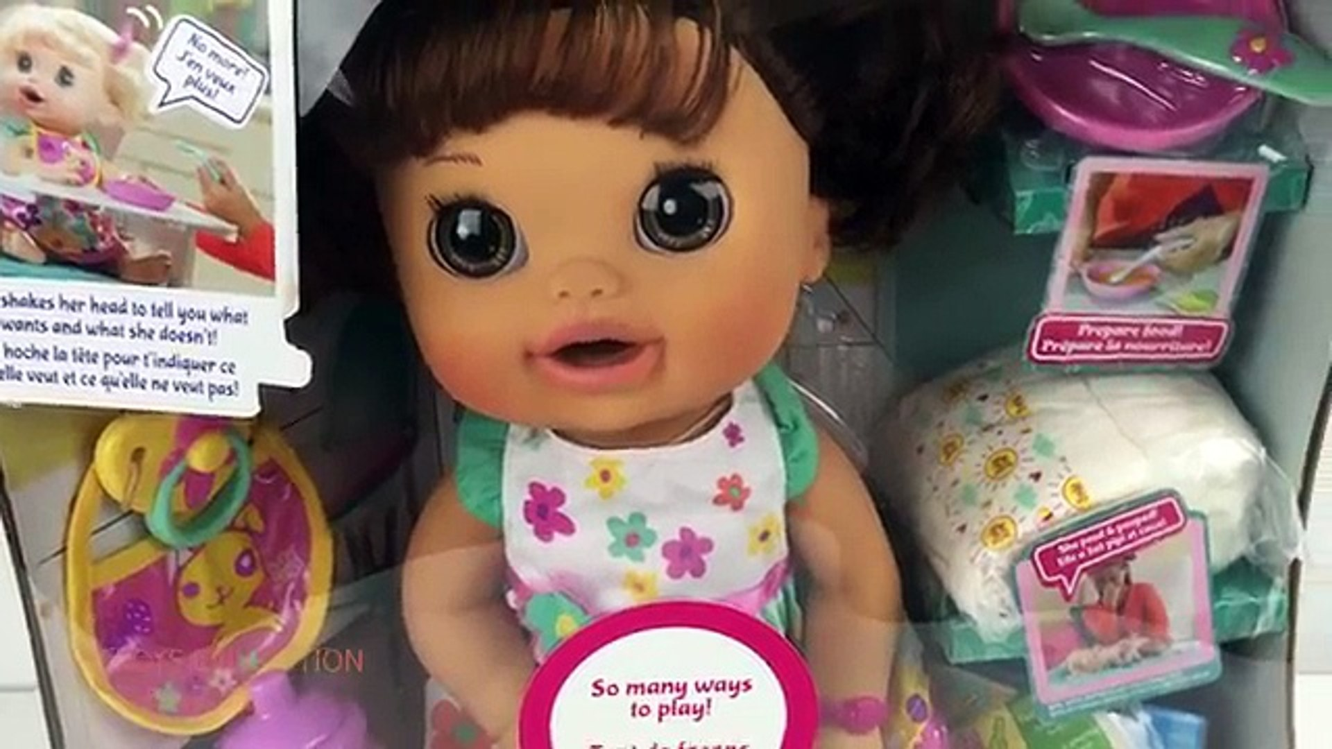 Baby Alive Doll Feeding Pooping Diaper Change Baby Doll Eats Food Poops Nappy Change Pretend Play