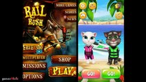 Talking Tom Gold Run vs Talking Tom Jetski vs Rail Rush gameplay ios/android