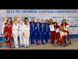 Women's 4x100m medley relay 34points | Victory Ceremony | 2014 IPC Swimming European Championships
