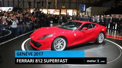 Genève 2017 - Présentation de la Ferrari 812 Superfast