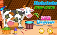 Holstein Cow Care - Cartoon Video Games For Kids Spiderman riding cow and have fun :)