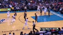 Kawhi Leonard Hit in the Head  Spurs vs Thunder  March 9, 2017  2016-17 NBA Season