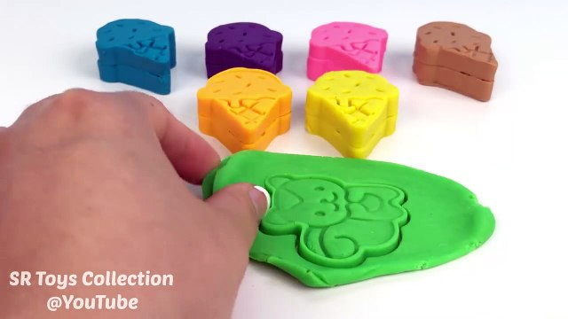Learning Colours Video for Children Play-Doh Ice Cream with Cookie Cutters Fun and Creative for Kids