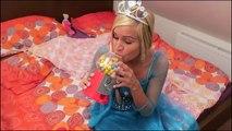 Frozen Elsa GUMBALLS SURPRISE! w/ Spiderman vs Joker Girl Bad Baby Superheroes IRL