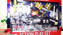 Action Play Set Space with Rockets Spaceships Satellites Rovers and NASA Astronauts