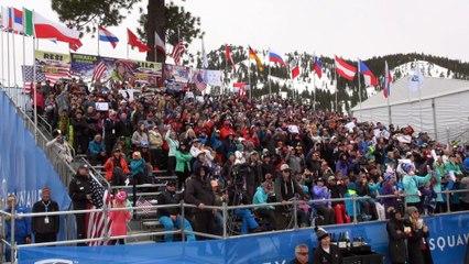 La réaction de Tessa Worley après sa superbe troisieme place sur le Slalom Géant de Squaw Valley