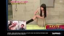 Une japonaise joue de la flûte à bec avec ses parties intimes sur un plateau télé
