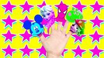 Mega Colección de Spiderman Hulk Congelado Elsa Dedo de la Familia de la canción para que los Niños los Bebés y Niños pequeños