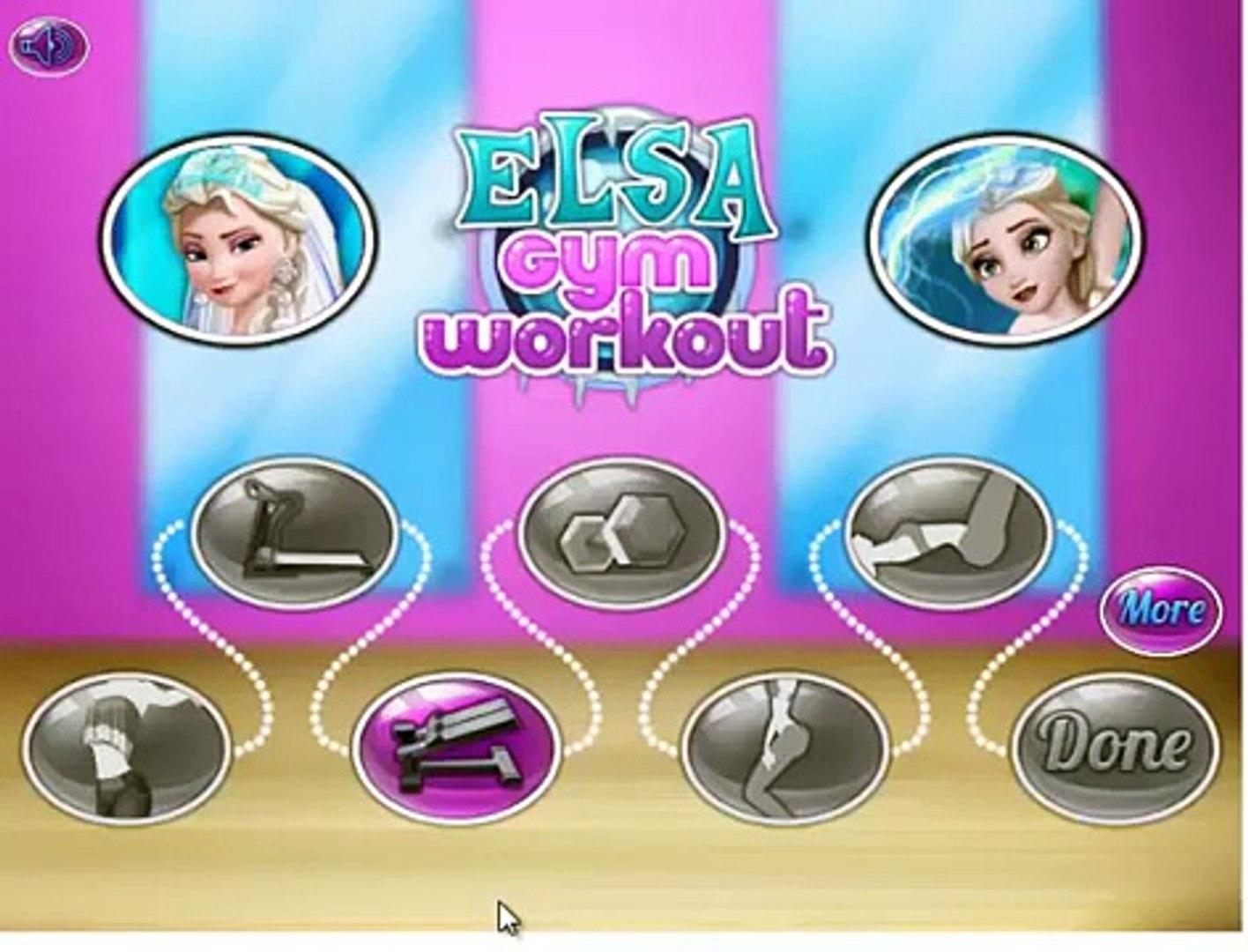 Frozen Elsa Disney Frozens Sport Dressup Gym Workout videos Games for Kids