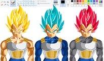 Drawing using Mouse Paint - Super Saiyan | Super Saiyan Blue | Super Saiyan Gog
