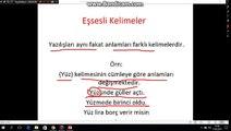 KPSS - Türkçe (Sözcükte Anlam Özellikleri-2) (Sözcükler Arasındaki Anlam İlişkileri)