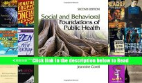 Read Social and Behavioral Foundations of Public Health Full Online