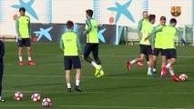 FC Barcelona training session: Focused on Riazor