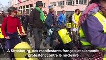 Strasbourg: manifestation des anti-nucléaires