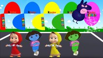 Learn Colors With Dora NEW Surprise Eggs For Kids - Masha Thomas Caillou Dora Captain Amer