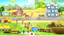 Kids Learn Heavy Machines: Dump Trucks, Crane, Digger, Bulldozer Truck For Children