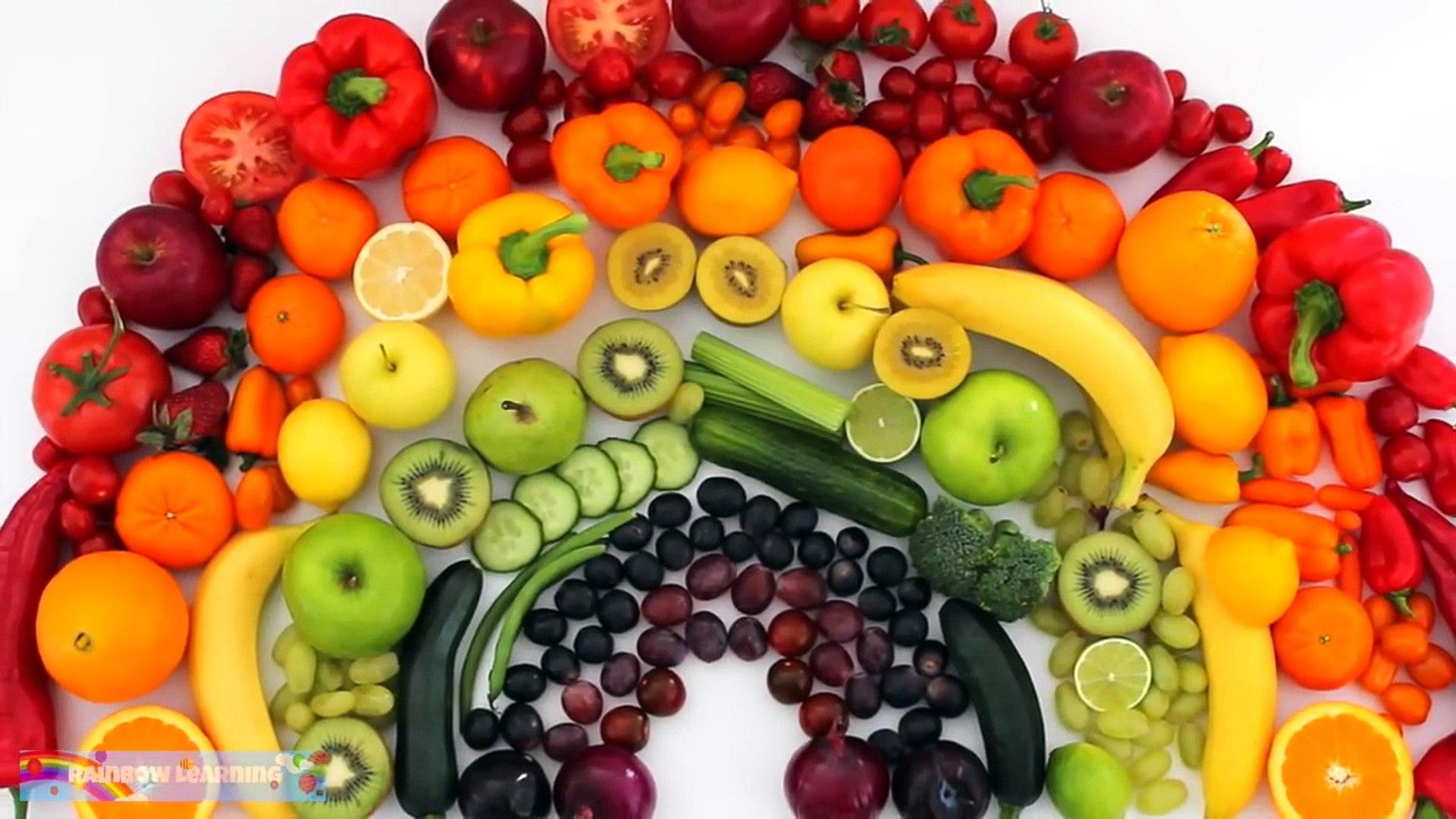 И цвета фрукты Узнайте из Радуга реальная в овощи с Rainbowlearning