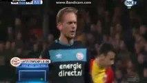Siem de Jong  Penalty Goal HD - Go Ahead Eagles 0-1 PSV 11.03.2017 HD