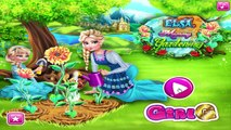 Disney Princess Frozen Elsa Anna And Tangled Rapunzel Mommy Gardening Games Compilation