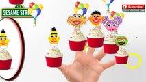 Sesame Street Finger Family Puppets Cupcake Rhyme Lyrics Ernie and Bert, Muppets Kermit Se