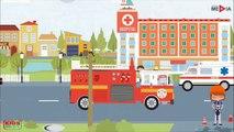 Sapeur pompier dessin animé, Pompier dessin anime francais, Camion de pompier dessin animé