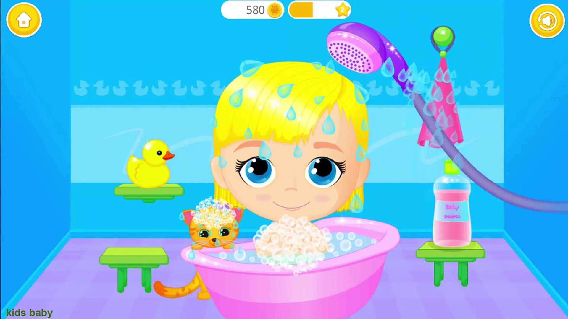Lily & Kitty Baby Doll House - Little Baby and Pet Care - Game for Kids