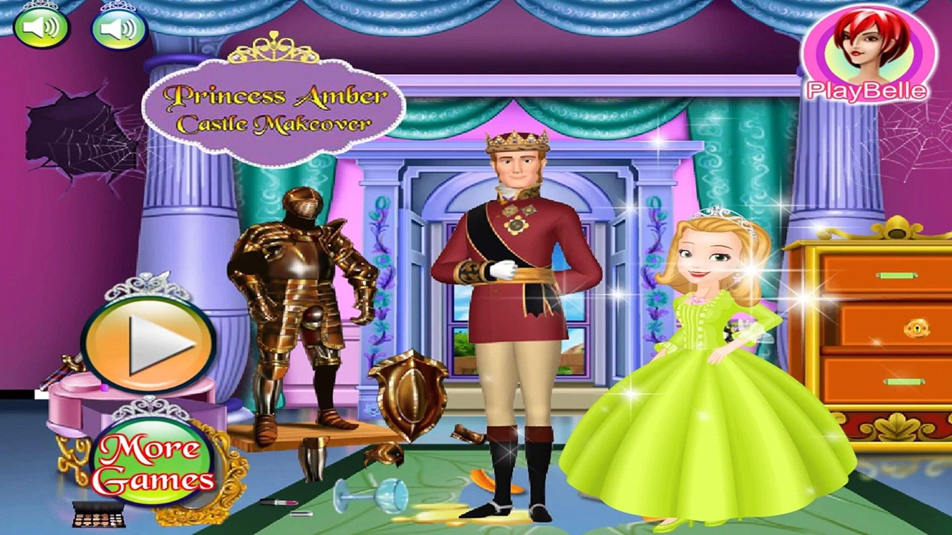 Disney Princess Games - Princess Amber Castle Makeover – Best Disney Games For Kids Amber