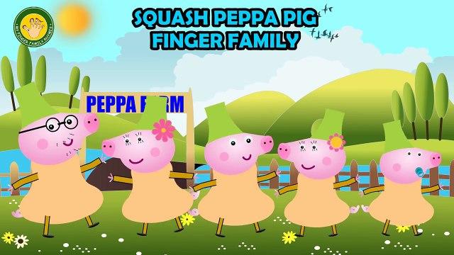 Peppa Pig Squash Fruit Finger Family | Peppa Pig Finger Family | Nursery Rhymes Lyrics and