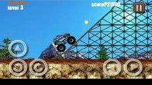 El monstruo de la línea temporal de dibujos animados sobre un portable de Juegos de Carreras para niños Stickman Downhill Monstertruck