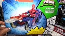 Ultimate Spider-man Sinister 6 Marvel Armored Spiderman & Agent Venom Symbiote Cycle Battl