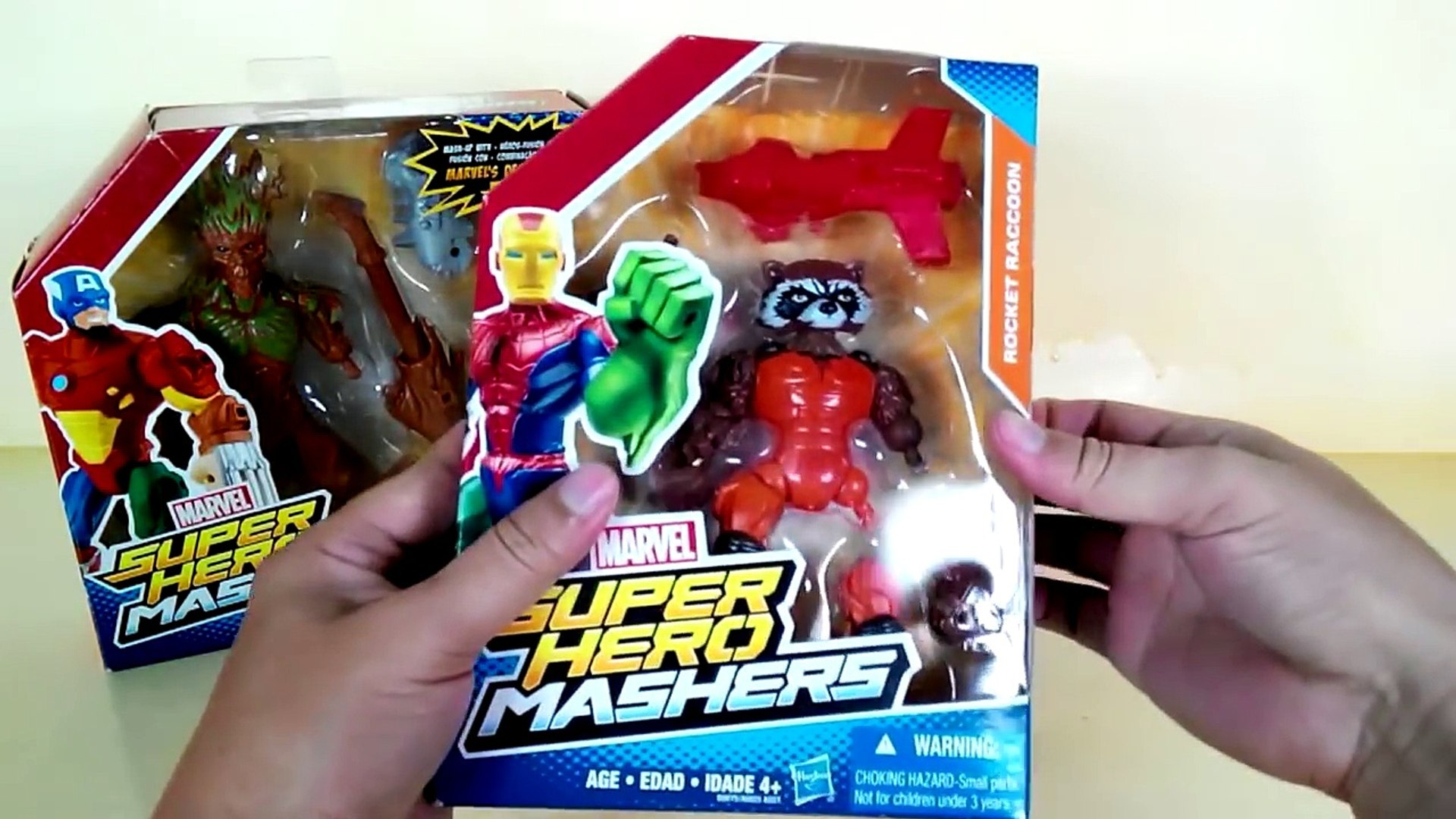 Marvel Super Hero Mashers Guardians Of The Galaxy Peter Quill AKA Star Lord and Rocket Rac