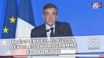 Présidentielle: Fillon dévoile son programme économique