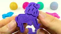 Fun Creative with Glitter Play Dough and Animal Molds for Kids #kids #playdough