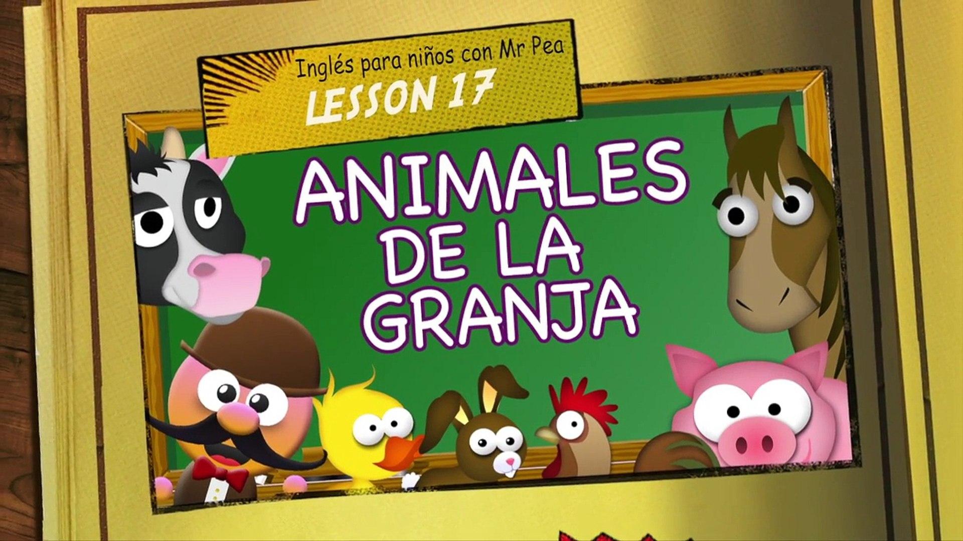 Animales De La Granja En Ingles Inglés Para Niños Con Mr Pea Vídeo Dailymotion