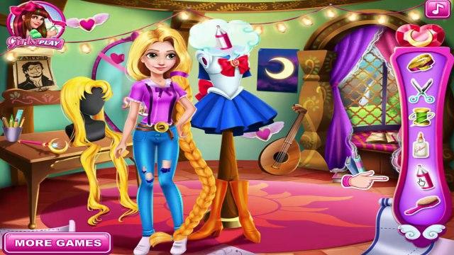 Rapunzel Sailor Moon Cosplay: Rapunzel Dresses Up Sailor Moon! Cosplay Games   Kids Play P