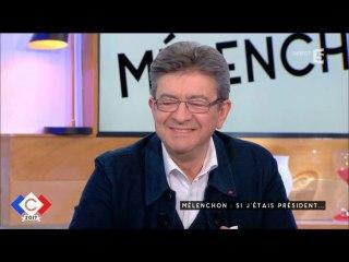 """Jean-Luc Mélenchon invité à """"C à vous"""" sur  France 5 le 13/03/2017"""