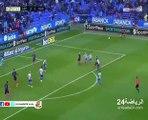 .فيصل فجر يضيع هدف بطريقة غريبة امام مرمى برشلونة
