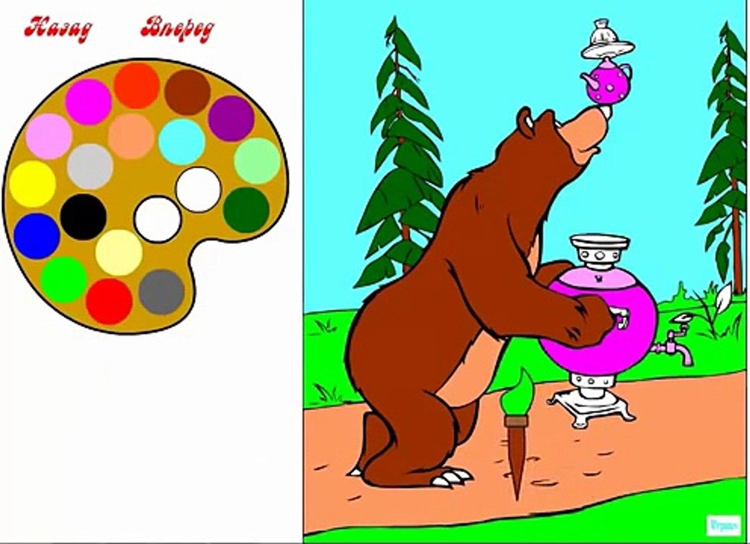 Маша и Медведь серия 3 мультик-раскраска. Маша меняет прически и наряды. Игрушкин ТВ