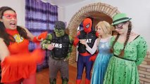 Spiderman COCA COLA + MENTOS Fail Frozen Elsa! w/ Rapunzel Maleficent FUN IRL Superhero in