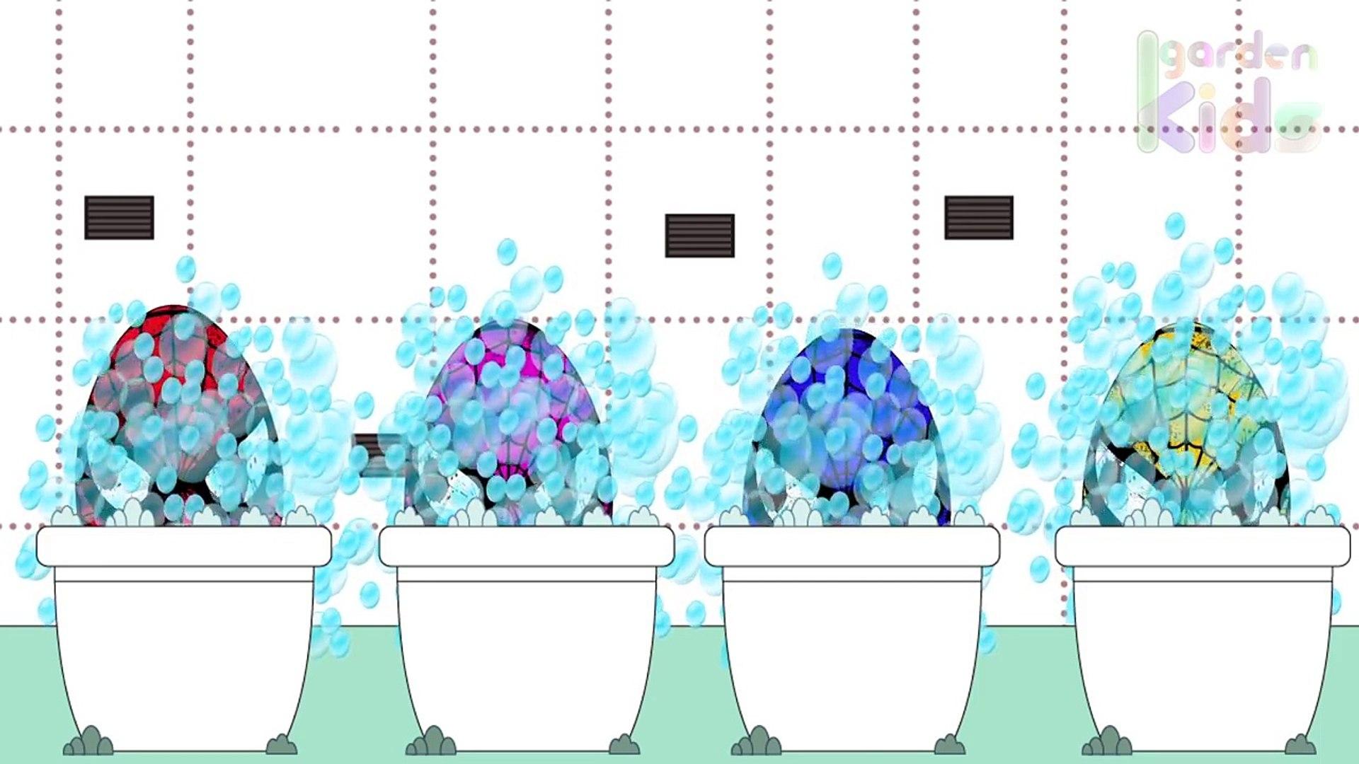 Дети раскраска Яйца для к к к к к к обучение человек-паук сюрприз Игрушки видео