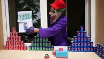 CRAZY COCA COLA PEPSI CHALLENGE! Movie Kids Toys w- Spiderman, Hulk & Joker Family FUN in Real Life