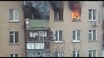 Mujer se arroja al vacío para escapar de un incendio