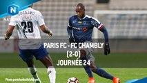 J24  Paris FC - FC Chambly (2-0), le résumé