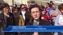 """Hautes-Alpes : """"Des fissures dans les plafonds et des flaques d'eau"""" le collège Centre à Gap dit stop et se met en grève"""