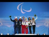 Women's slalom visually impaired Victory Ceremony | Sochi 2014 Paralympic Winter Games