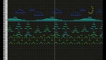 Les aventures d'une petite fille racontée en musique à travers une partition MIDI